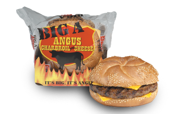 BIG AZ ANGUS CHARBROIL WITH CHEESE